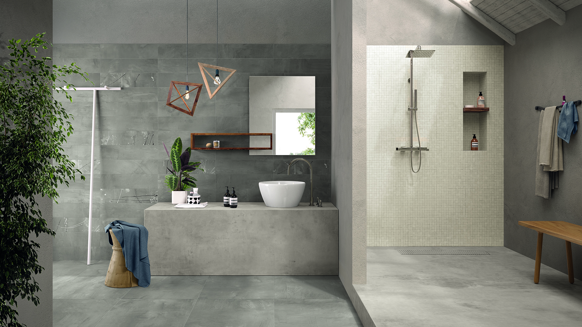 99Volte Grigio 99Segni-Mosaico Amb. Bagno